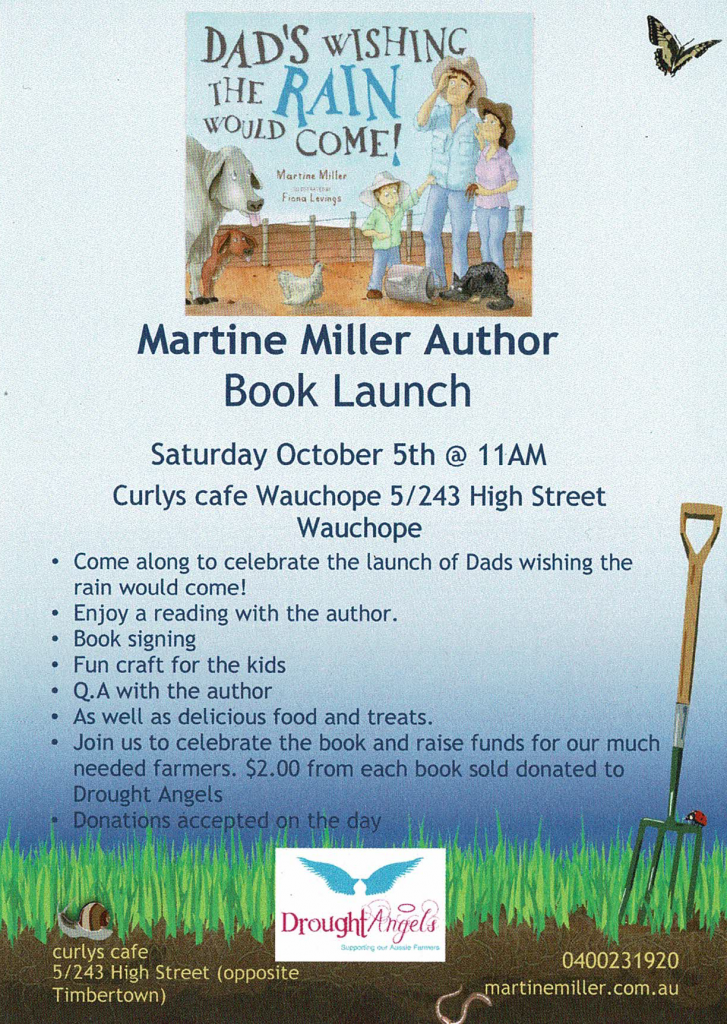 Book Launch – Dad's Wishing the Rain Would Come!